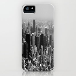 New York City Black and White iPhone Case