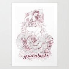youtubed Art Print