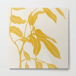 Golden Yellow Leaves #art print#society6 Metal Print