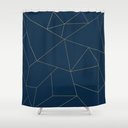 Golden Crystal Web Pattern Shower Curtain