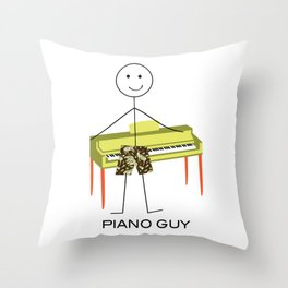 Funny Mens Piano Design, Boy Music Gifts, Piano Guy Throw Pillow
