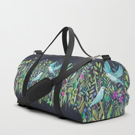 Little Garden Birds in Watercolor Duffle Bag