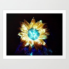 Other Worlds Have Flowers Too Art Print