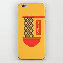Ramen Japanese Food Noodle Bowl Chopsticks - Yellow iPhone Skin