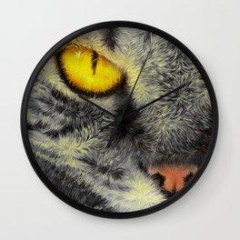 Gato Loco Wall Clock