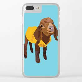 Goaty McGoatface - yellow Clear iPhone Case