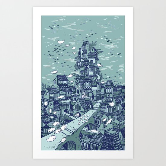 The Deep Art Print