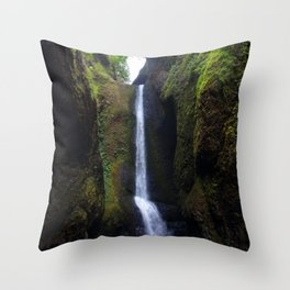 Lower Oneonta Falls, Oneonta Gorge, Oregon Throw Pillow