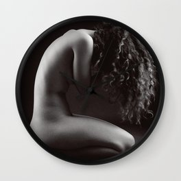 Karolina in black and white II Wall Clock