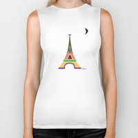 eiffel tower Biker Tanks featuring Eiffel Tower by Losal Jsk