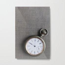 The Old Pocket Watch Metal Print