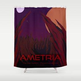 Planet Exploration: Ametria Shower Curtain