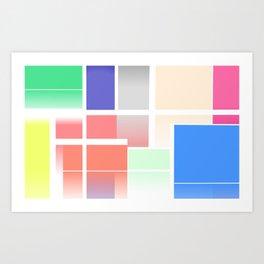 Abstract Colour Blocks Art Print