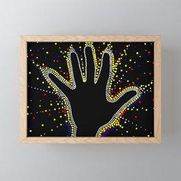 Powerful. Dot art. Framed Mini Art Print