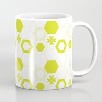 polygon Mugs featuring Polygon by Julianne Chia