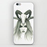 zodiac iPhone & iPod Skins featuring Zodiac - Aries by Simona Borstnar