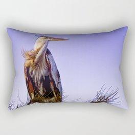 Great Blue Heron Rectangular Pillow