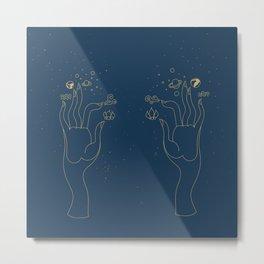 Hand Elements Metal Print