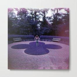 Girl in the Purple Gardens - Holga Film Photograph Metal Print