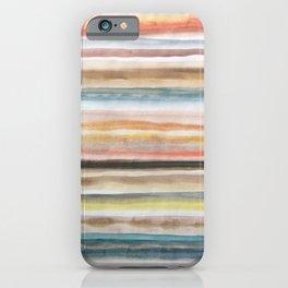Horizontal stripes iPhone Case