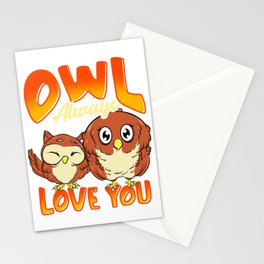 Cute Owl Always Love You Adorable Owl Pun Stationery Cards