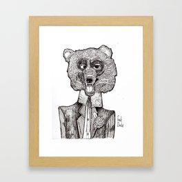 Bear's First Date Framed Art Print