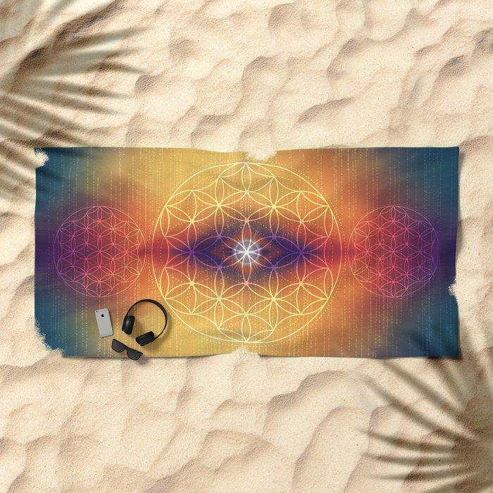 Flower of Life Beach Towel