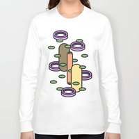 hot dog Long Sleeve T-shirts featuring Hot dog by Jan Luzar