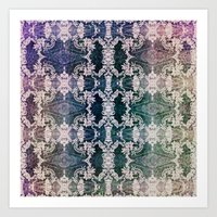 lace Art Prints featuring Lace by Truly Juel