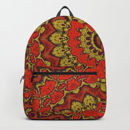 Mandala Fractal in Indian Summer 03 Backpack