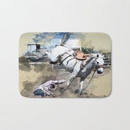 Bucking Bronco 1 Cowboy 0 Bath Mat