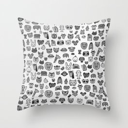 Animal Party Throw Pillow