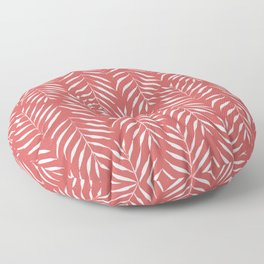Palm trees in red Floor Pillow