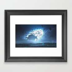 The Asteroid Man Framed Art Print