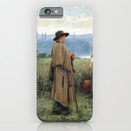 An idle moment - Daniel Ridgway Knight iPhone Case
