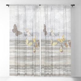 Butterfly escape Sheer Curtain