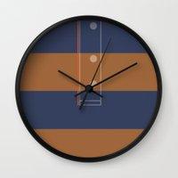 derek hale Wall Clocks featuring Derek (Miguel) Hale by smartypants