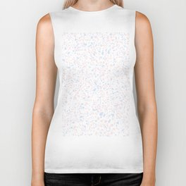 'Speckle Party' Lilac + Pink Dots Speckle Terrazzo Pattern Biker Tank