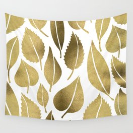 Cascading Leaves – Gold Palette Wall Tapestry
