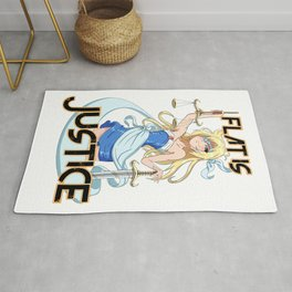 Flat is Justice Rug
