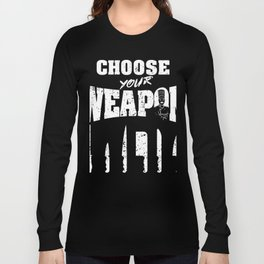 Choose Your Weapon Awesome Chefs Knife T-Shirt Long Sleeve T-shirt