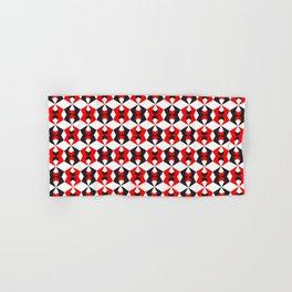 Geometric Pattern 115 (red hexagon) Hand & Bath Towel