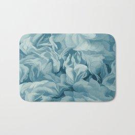 Soft Baby Blue Petal Ruffles Abstract Bath Mat