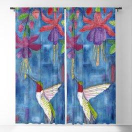 hummingbird & fuchsia Blackout Curtain