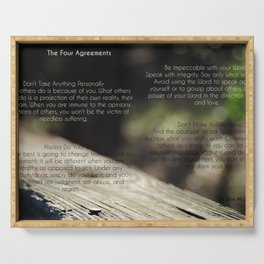The Four Agreements 4 Serving Tray