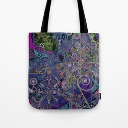 """""""non-existing"""" city """"existing"""" map Tote Bag"""