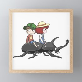 Beetle ride Framed Mini Art Print