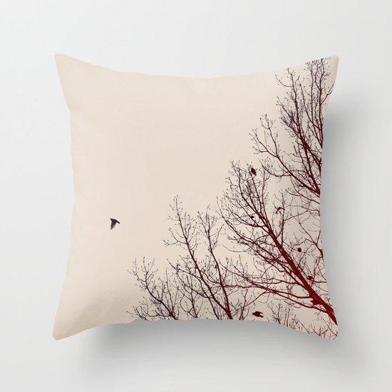 Umber Days Throw Pillow