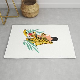 Waking the tiger Rug