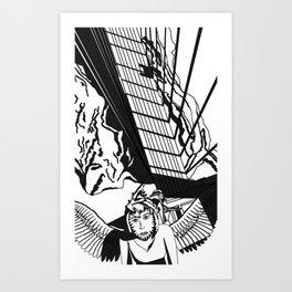 Looking down on Brooklin Bridge Art Print